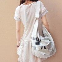 Black Korean Over Shoulder Bags Women Female Irregular Canvas Crossebody Handbags Bag for Girls Ladies Messenger Bags Beach Bags