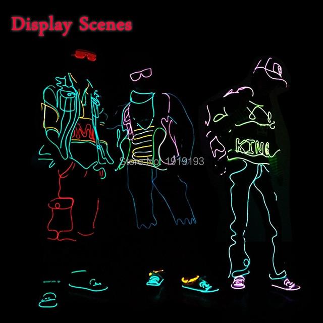 Fancy Dress Accessory Neon Led Strip Teddy Boy Fashion Costume ...