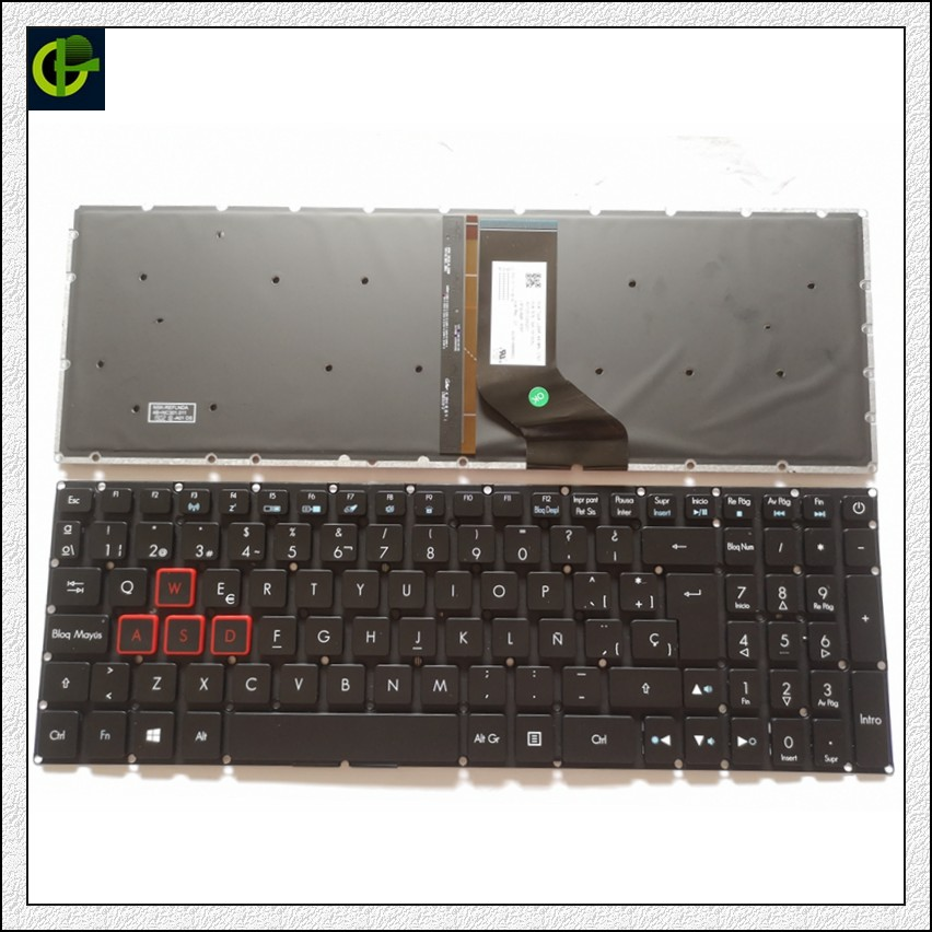 Espagnol clavier Rétroéclairé pour Acer Predator Helios 300 PH317-51 NK. I1513.053 G3-571 G3-572 PH315-51 N17C1 N16C7 SP latin LA
