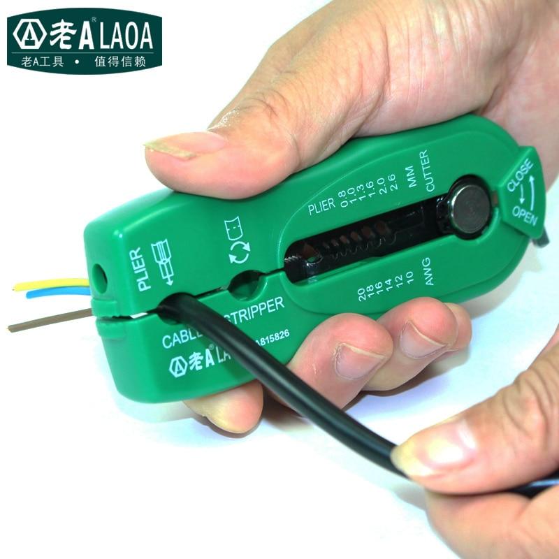 LAOA Portable Multifonctionnel Fil Pinces Palm à dénuder pince à sertir Marque Fil Décapant