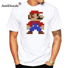 2465151aa Antidazzle Rock Periodic Super Mario Table Men T-shirt Short Sleeve  Crewneck Cotton