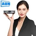 AUN MINI Proiettore D8S, 1280x720 P, Android 6.0 (2G + 16G) WIFI. 12000mAH Batteria, Portatile 3D beamer. Supporto 4K per home cinema