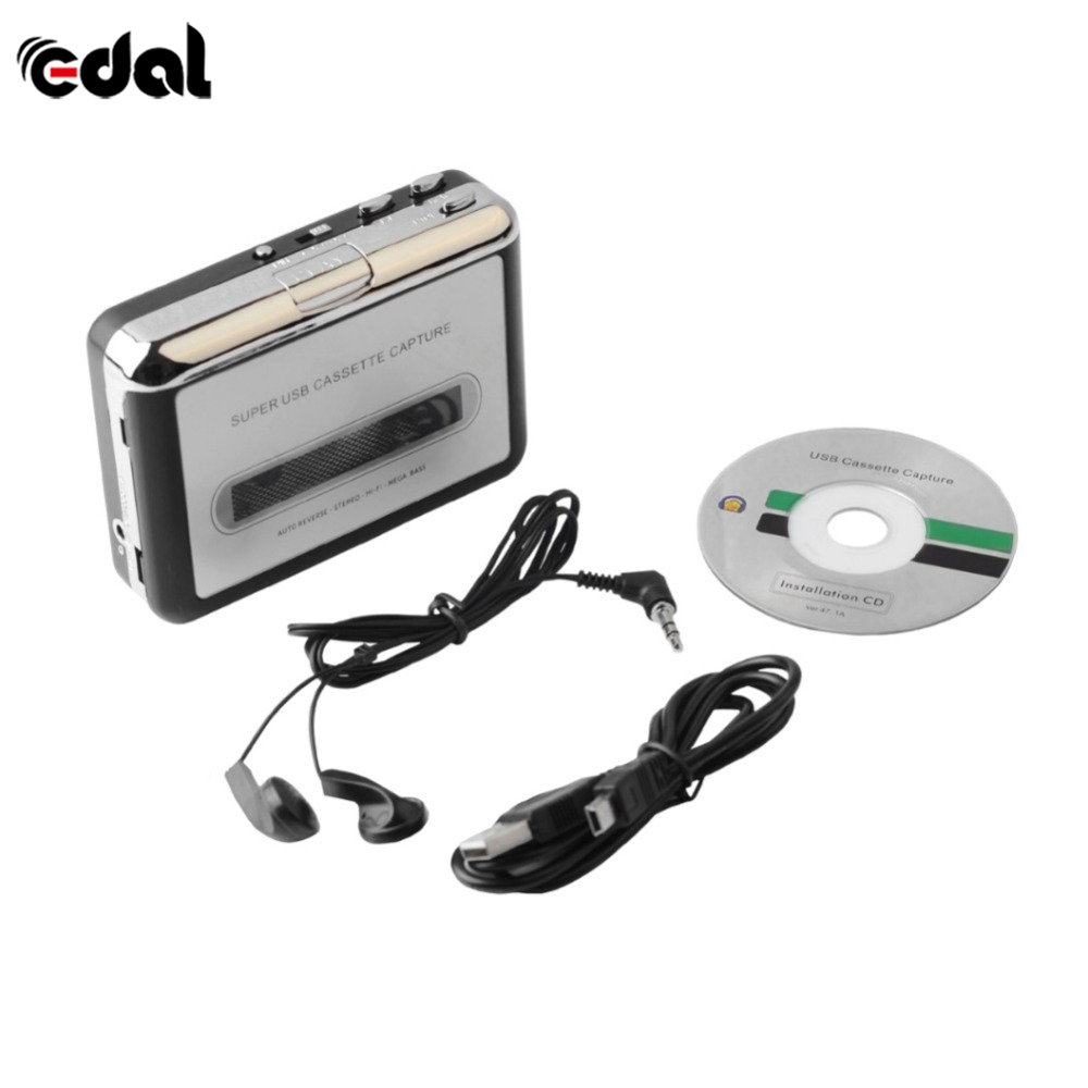 USB Cassette Tape Converter Cassette to MP3 Audio capture Music Player Tape to PC Portable Cassette to MP3 Converter Player