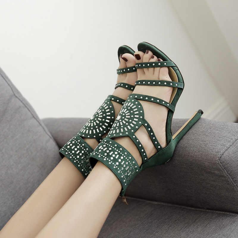 Ayakkabı kadın 2019 yaz yeni Roma taklidi yüksek topuk yeni güzel açık toe büyük boy bayan sandalet
