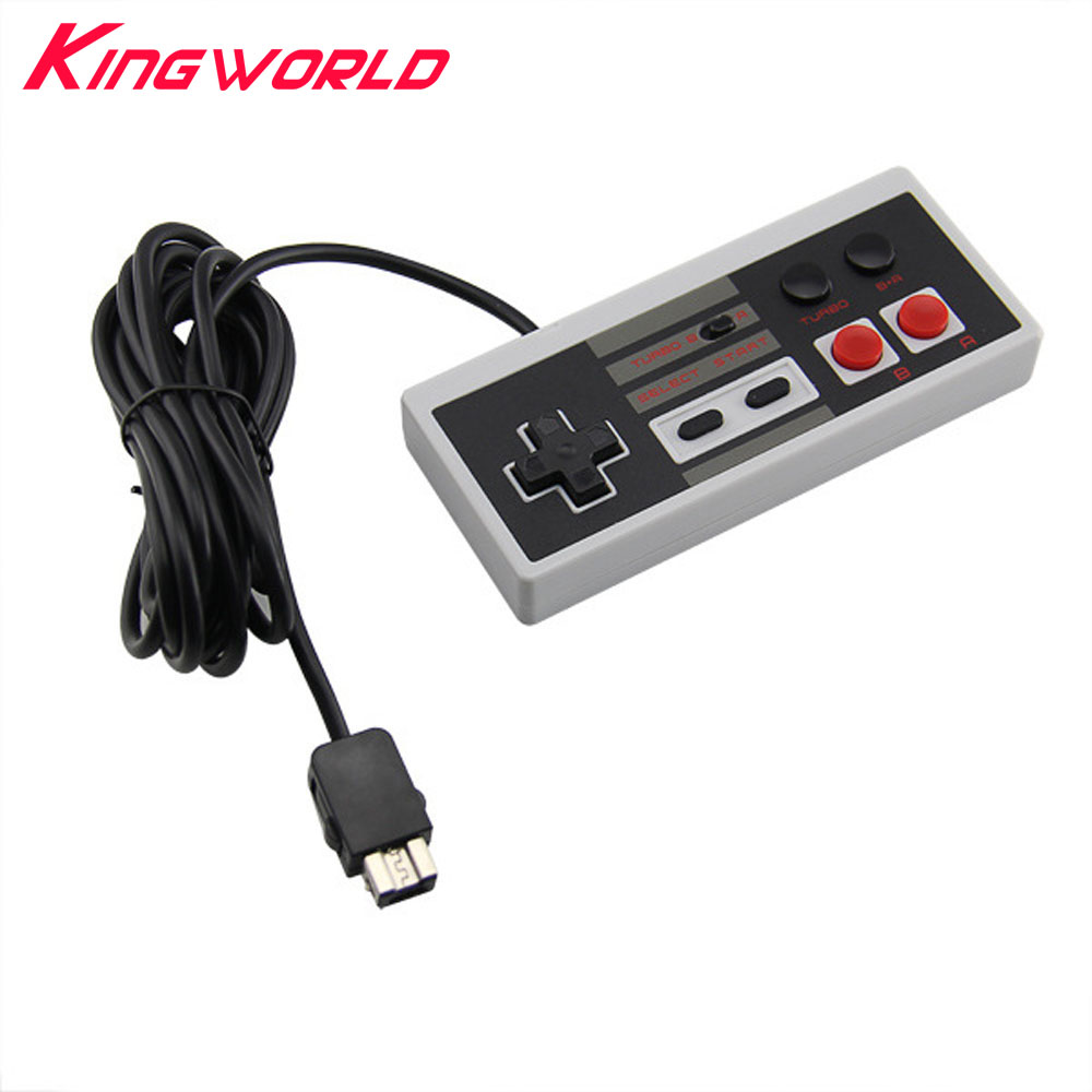 Turbo Wired 2.7m Retro Gaming Controller Gamepad For Nintendo For Mini NES Classic GamePad