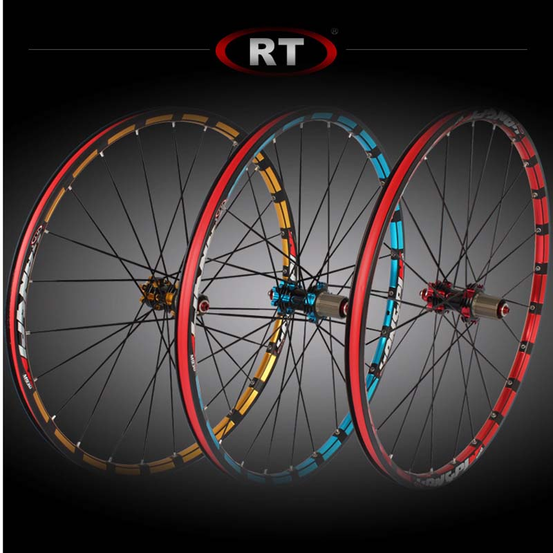 2018 mountain <font><b>wheel</b></font> set straight wind breaking flat <font><b>spokes</b></font> wheelset Rim 26/27.5er 24 holes front 2 rear <font><b>5</b></font> bearing japan hub image