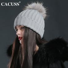 Cacuss brand hats women winter wool hats fur ball cap pom poms winter hat for women girl 's hat knitted beanies cap