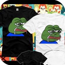 2017 Fashion Vote Pepe Sad Frog Printed Women man T Shirt Summer Funny Short Sleeve Tee Tops Hipster Custom T-shirt Clothes
