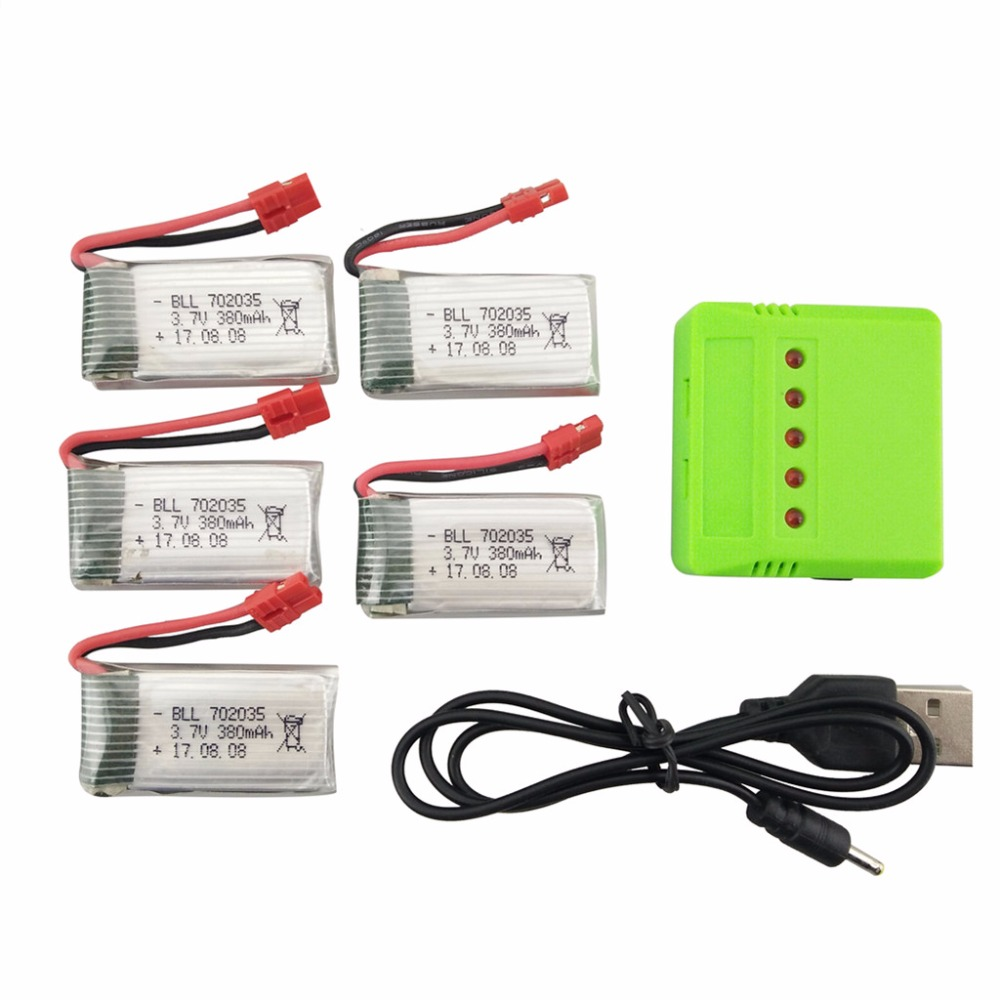 BLL new SYMA X5A-1 X15 X15C X15W Quadcopter RC Accessories 3.7V 380mah lithium battery and charger 5 in 1 Kit high quaity syma x4 x11 x13 rc quadcopter 3 7v 200mah li po battery 5pcs 5 in 1 charger box