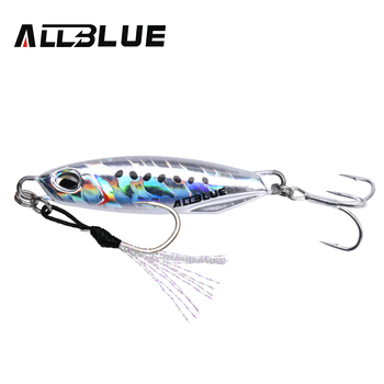 ALLBLUE New DRAGER Metal Cast Jig Spoon 15G 30G Shore Casting Jigging Lead Fish Sea Bass Fishing Lure  Artificial Bait Tackle 7