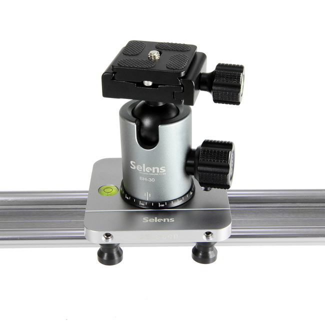 Selens 1M Slider Track Rail Stabilizer System For DSLR Camera Video with Carrying bag selens pro 100x150mm