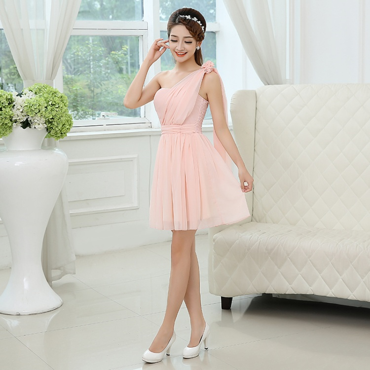 3 Colors 18 Style Short Cheap Bridesmaid Dresses Under 50 Pink ... 34a0b422469d