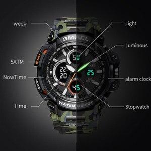 Image 3 - Мужские часы 2018 SMAEL, роскошные часы ведущей марки, мужские часы в стиле G, военные, армейские, спортивные наручные часы S Shock, светодиодные аналоговые, цифровые часы Saat