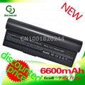 Golooloo 6600mAh black  laptop battery for Asus Eee PC EPC 901 904HD 1000 1000H 1000HD  870AAQ159571 AL23-901 AL24-1000 AP23-901