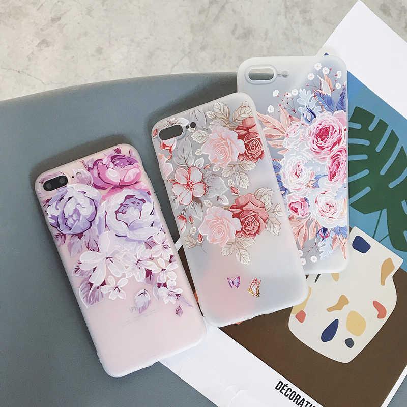 สำหรับ Samsung Galaxy A50 A30 A20 A10 A51 A71 3D โล่งอกซิลิโคนดอกไม้สำหรับ Samsung S7 EGDE s10 S8 S9 PLUS