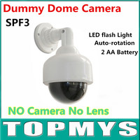 Emulation Fake Decoy Dummy Dome CCTV Camera Fake Surveillance Flashing LED Camera TM SPF3