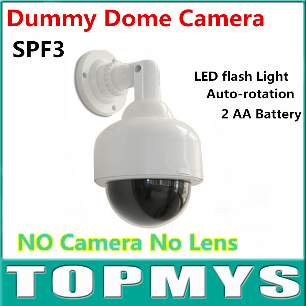 Emulation Fake Decoy Dummy Dome CCTV Camera Fake Surveillance Flashing LED Camera TM-SPF3