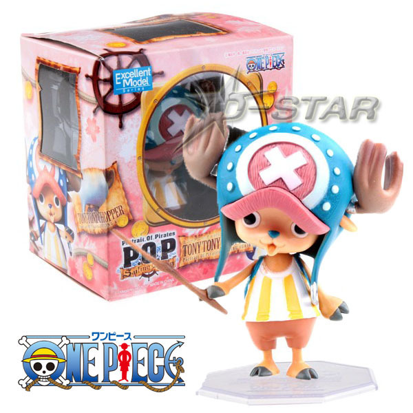 """Free Shipping Cute 4"""" One Piece P.O.P Tony Tony Chopper After 2 Years Boxed PVC Action Figure Collection Model Toy Gift Toys"""