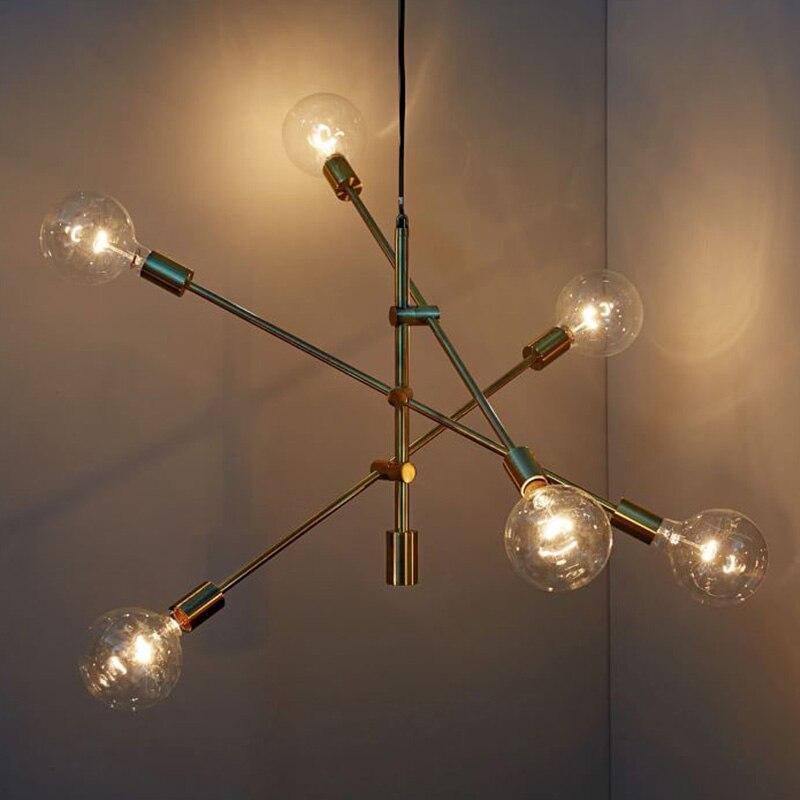 New Gold/Black Modern LED Pendant Lights Dining room kitchens AC 85-265V Hanging light fixture Luminaire colgante Pendant Lamp
