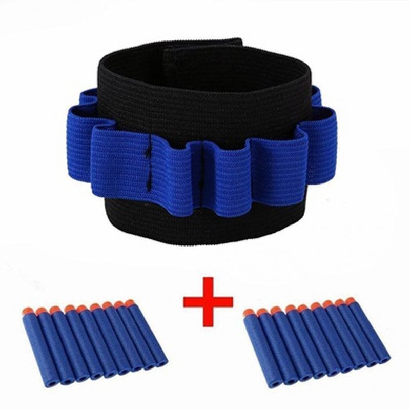 Hot Sale Outdoor Trainning Waist Bags CS Game Bullet Dart Storage Wrist Belt Wristband Strap N-strike Bullet Storage Wristband