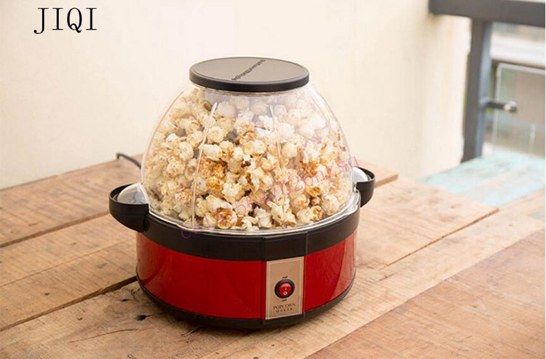 Mini household popcorn machine washable tray can add sugar in Halogen tube heat big capacity children's love suitable for  party nobrand slvjd