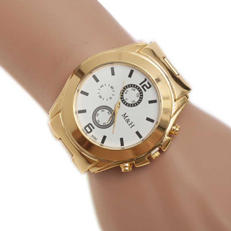 Excellent Quality Golden New Clock Fashion Women Watch Gold Stainless Steel Quartz Watches Watch Wholesale Gold Watch Men