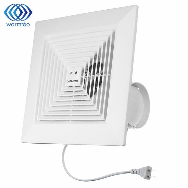 220V US Plug 38W 8 Inch Kitchen Bathroom Window Ceiling Wall Mount  Ventilation Exhaust Fan Fan
