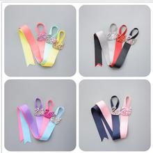 SWAN Ribbon Rainbow Colors Toddlers Hair Clip Storage Tape Assorted Hairpins Holder Kids Accessories Holding Band S2