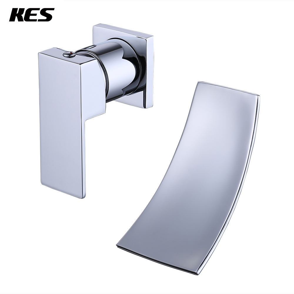 KES L3200/ 2 Single Handle Wall Mount Widespread Waterfall Bathroom ...