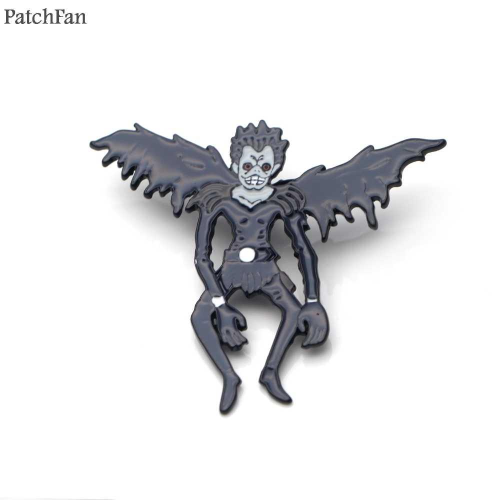 Patchfanエナメルピンデスノート記章パラ用バックパックの服金属メダルシャツバッジブローチ男性のためのA0862