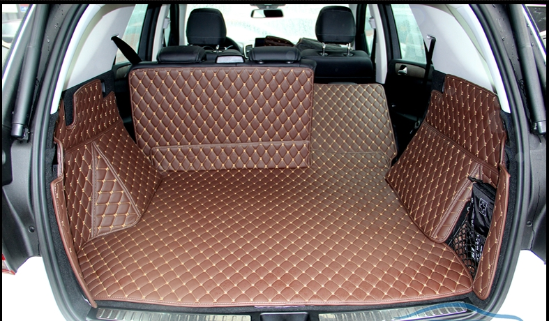 Top quality! Special trunk mats for Mercedes Benz <font><b>ML</b></font> <font><b>350</b></font> <font><b>W164</b></font> 2011-2006 durable cargo liner boot carpets for ML350,Free shipping image