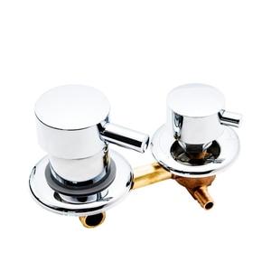 Image 2 - 2/3/4/5 yollu duş anahtarı kontrol pirinç duş musluk mikser duş kabini aksesuarları duş vana saptırıcı musluk