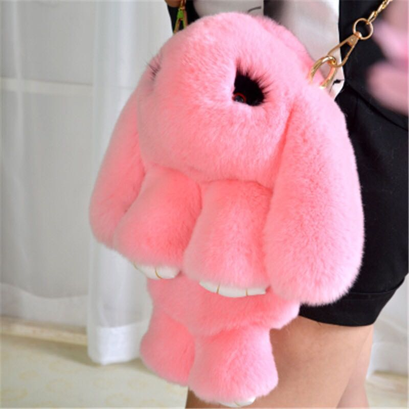 Rabbit Fur KeyChain Pom Pom Keychain Bag Charms Car Pendant Key Cover Trinket Women Chaveiro Keychains Handbag Keyrings chaveiro fluffy for keychain fake rabbit fur ball pom pom cute charms pompom gifts for women car bag accessories