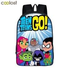 New arrival cartoon Backpack Teentitansgo Students School lightweight backpack For Girls Boys Rucksack mochila women Bag