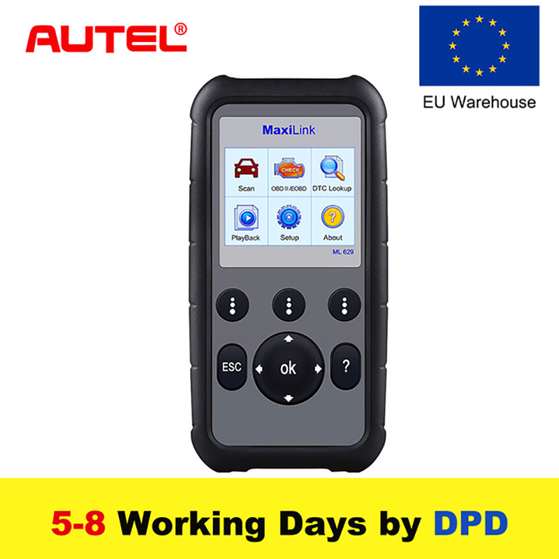 EU Autel AL619 OBD2 Auto Diagnostic Tool EOBD Code Reader SRS ABS Airbag Engine