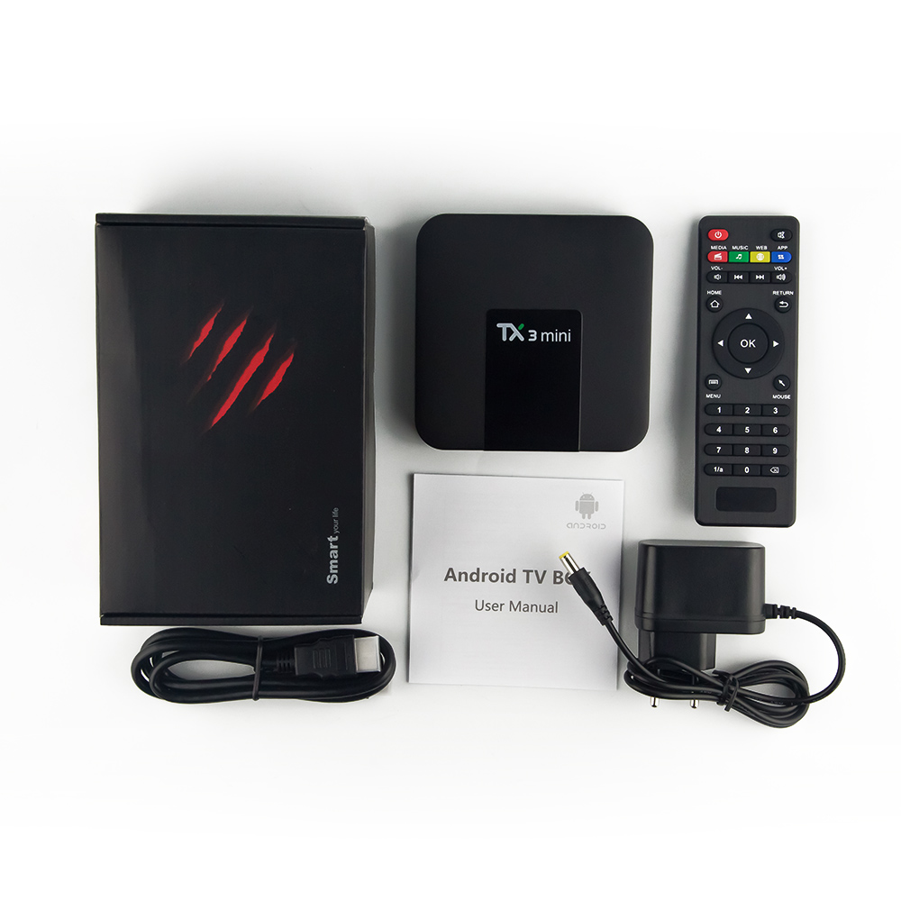 Image 5 - TX3 mini Android 7.1 Smart TV BOX Amlogic S905W Quad Core Set top box H.265 4K Media Player TX3mini QHDTV Arabic French IPTV Box-in Set-top Boxes from Consumer Electronics
