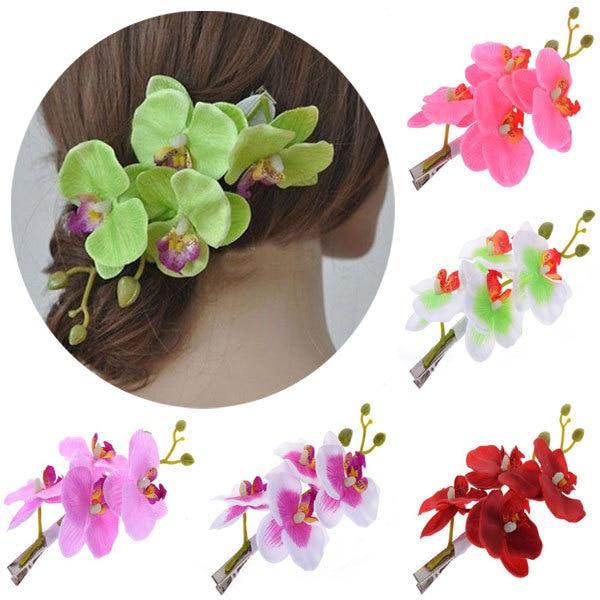 ᗛMarque New Trendy Fleur D orchidée Barrette Nuptiale Femmes de ... dc859a47b59