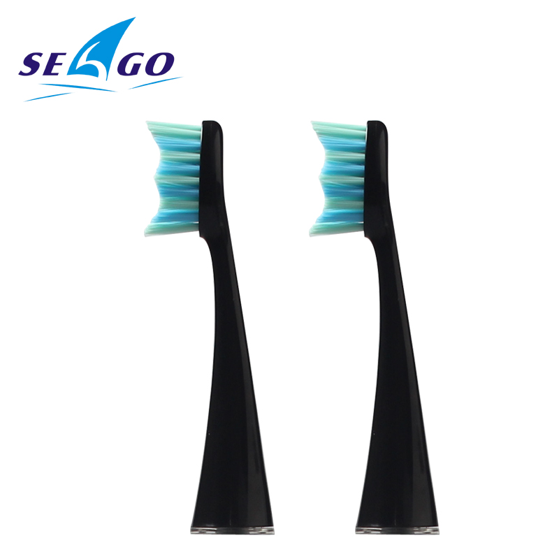 SEAGO Original Sonic Electric Toothbrush Head Oral Care Seago 861 Replacement Brush heads Set two heads for SG986 SG987