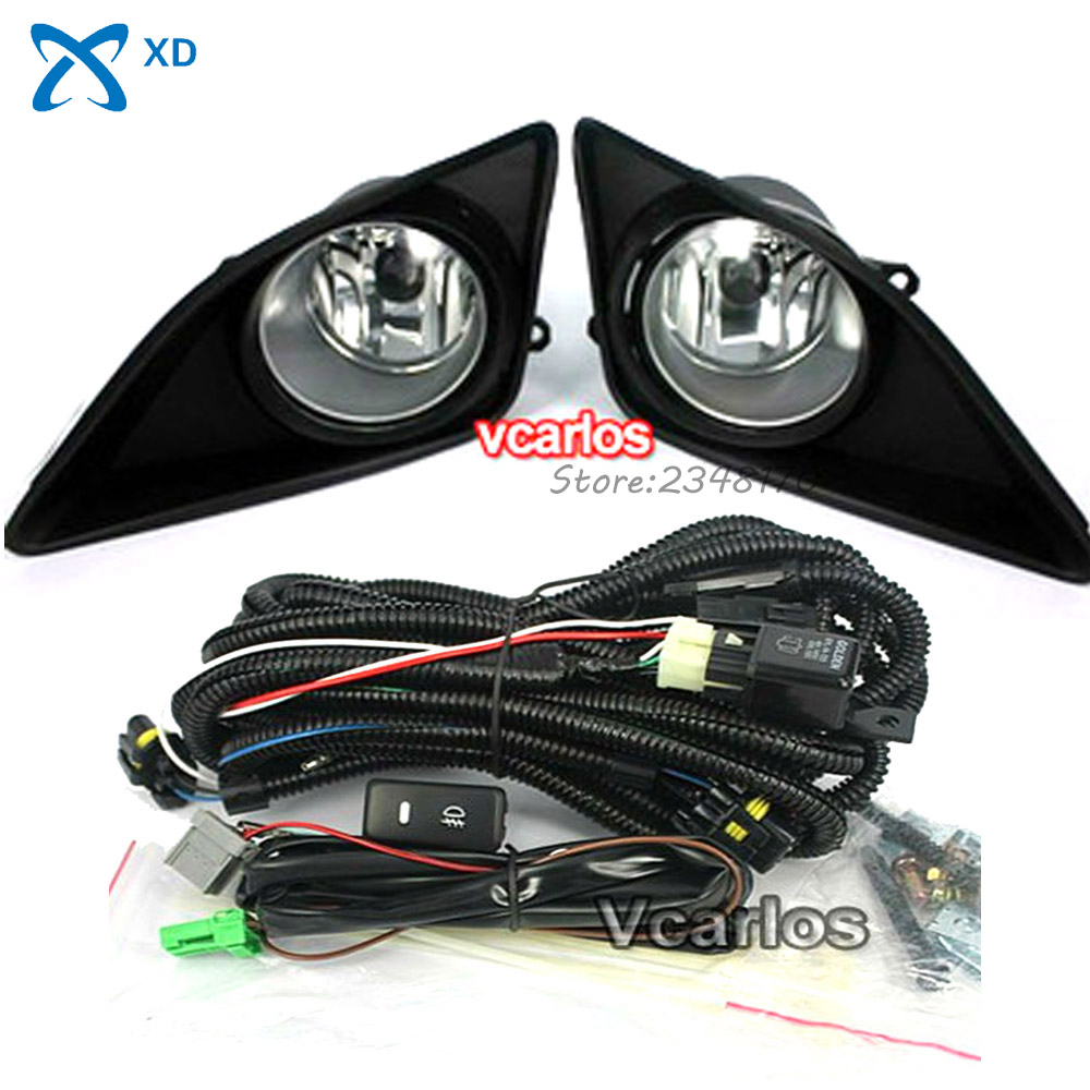 Auto Fog Lights lamp for Toyota Corolla Altis 2008 + Corolla 2009 (U.S.TYPE) Clear Lens Pair Set Fog Light Set Free Shipping 12v 55w bulb car fog light lamp for 2003 toyota corolla ip67 free shipping