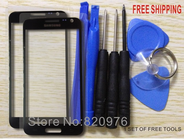2 Piece Original Outer LCD Touch Screen Top replacement Glass for Samsung Galaxy S II HD LTE E120 120 + free tools+Free Shipping