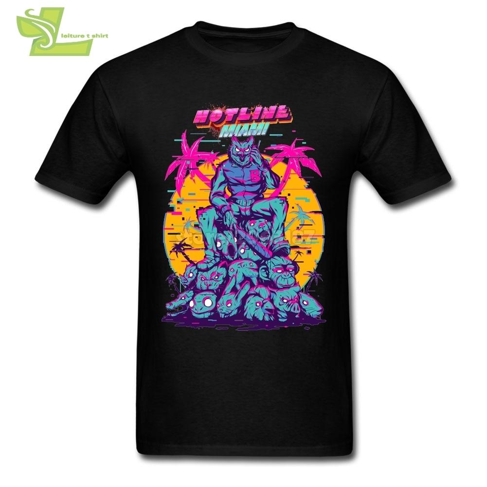 Hotline Miami Vaporwave Umorismo T-Shirt Uomo In Cotone Manica Corta Magliette Del Progettista di Vendita Calda Camicie