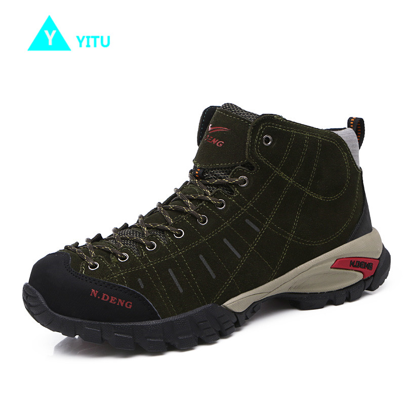 2017 New Winter Warm Men Hiking Shoes Outdoor Sports Camping Upstream Shoes For Men Non-Slip Breathable Trekking Walking Sneaker yin qi shi man winter outdoor shoes hiking camping trip high top hiking boots cow leather durable female plush warm outdoor boot