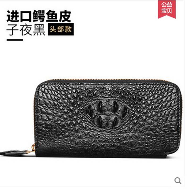 jlt new crocodile men purse men clutch bag  crocodile leather bags from European and American fashion dollar price new european and american ultra thin leather purse large zip clutch oil wax leather wallet portefeuille femme cuir