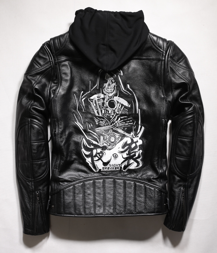 Free shipping.2017 Cool Brand man style skull leather Eur plus size Jackets men's genuine Leather motorcycle biker jacket. free shipping dhl biker brand winter fashion men genuine leather jacket clothing cool slim jackets man motorbiker warm coat