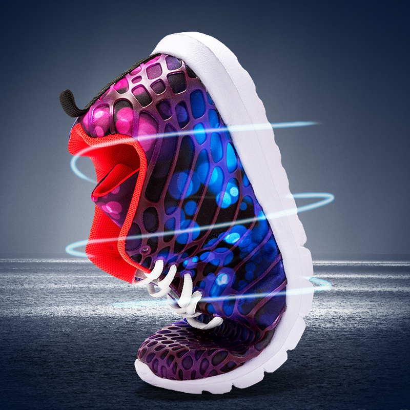 Vikings 2019 Brand New Fashion Running Shoes Breathable Cushioning Rubber Women Trainers Lace Up Flat Comfy Gym Sports Shoes in Running Shoes from Sports Entertainment