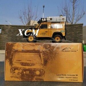 Image 5 - Pres döküm model araç Neredeyse Gerçek Land Rover Defender 90 Baskı 1:18 + KÜÇÜK HEDIYE!!!!!