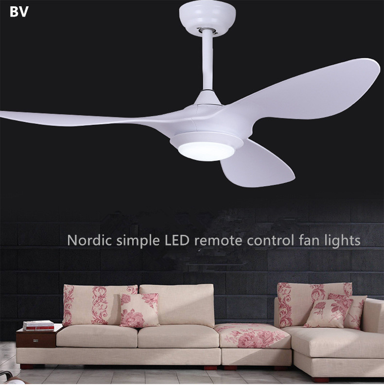 High quality nordic creativity ceiling fans 110v 220v led - Bedroom ceiling fans with remote control ...