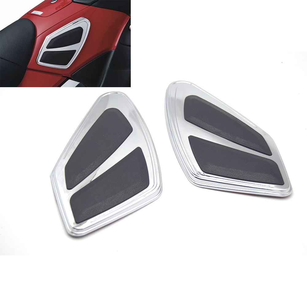 Chrome Motorcycle fuel tank anti scratch anti slip knee pads insurance patch for Honda Golden Wing GL1800 2012 2017, FB6 12 17-in Covers & Ornamental Mouldings from Automobiles & Motorcycles    1