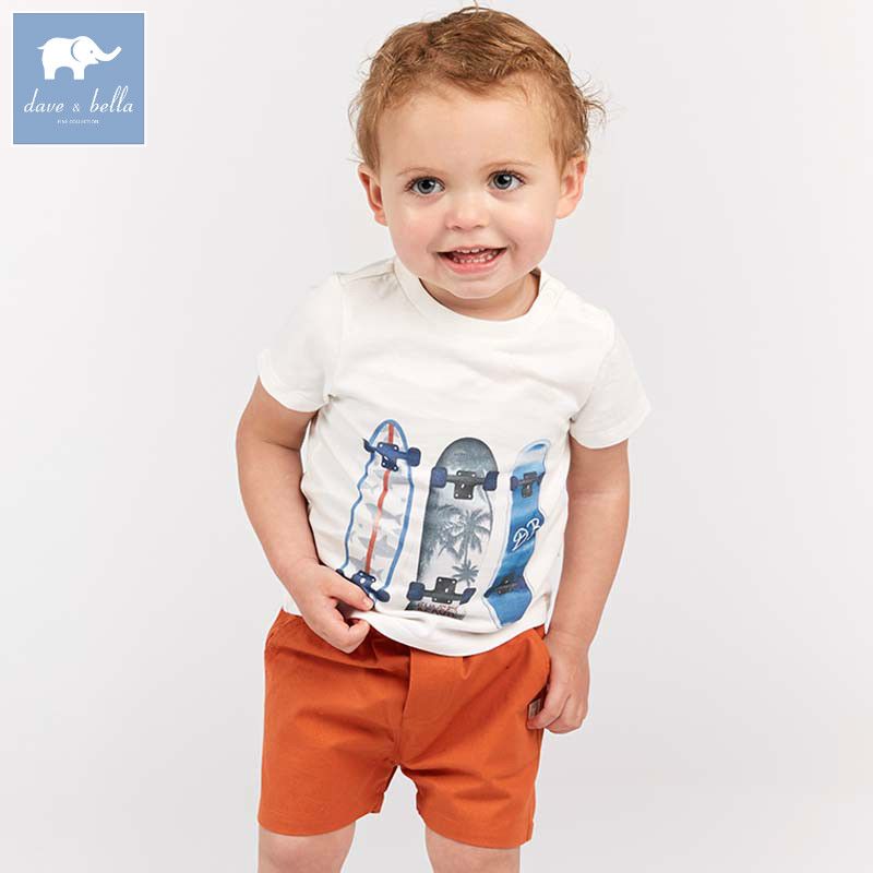 DB8289 dave bella summer baby outfits children high quality clothes kids fashion suit infant toddler boys clothing sets 2 pc new arrival baby boy clothes sets plaid gentleman suit infant toddler boys vest pants children kids clothing set outfits 2 8 age