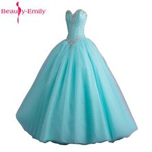 Beauty-Emily Long Ball Gown Quinceanera Dresses 2017 Sweetheart Princess Girl Sleeveless Lace Up Party